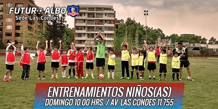 Futuro Albo ¡Somos la Escuela oficial de fútbol de Colo-Colo!.