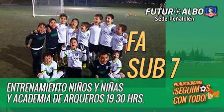 Un saludo de los alumnos FA Sub7, sede Peñalolén