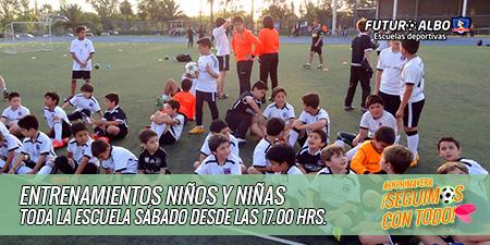 Tooooda la escuela de fútbol invitada hoy sábado desde las 17.00 hrs. a los entrenamientos en el Estadio Mayor.