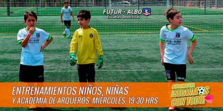 Miércoles de fútbol en las Escuelas Deportivas #Futuroalbo