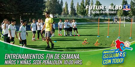 Recuerda, todos los Domingos desde las 10.00 hrs. Entrenamientos en #futuroalbo