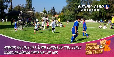 Todos los sábado, desde las 11:00 hrs. en el Estadio Las Condes