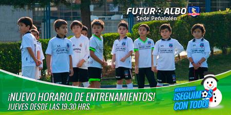 Sede Peñalolén: Desde Julio, nuevo horario entrenamientos días miércoles