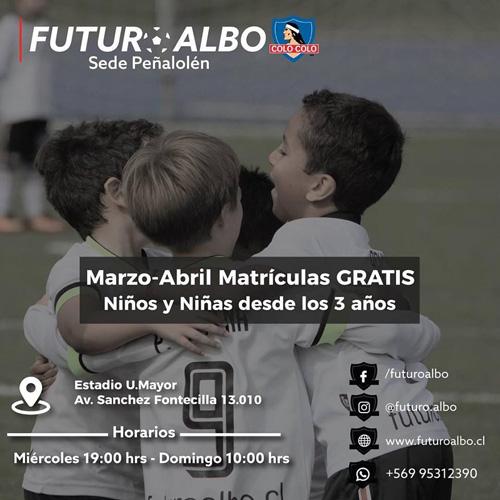 Súmate a Futuro Albo y aprovecha matrícula gratis en Marzo y Abril!